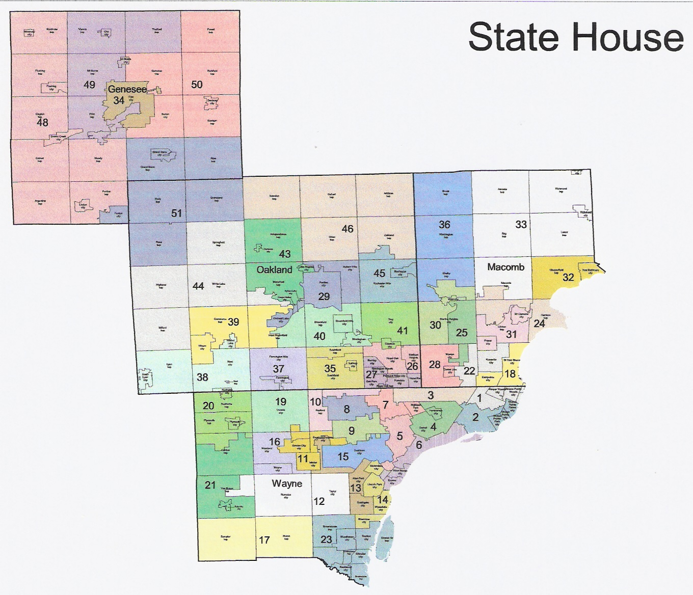 Michigan Redistricting: Official Republican State House Map Released
